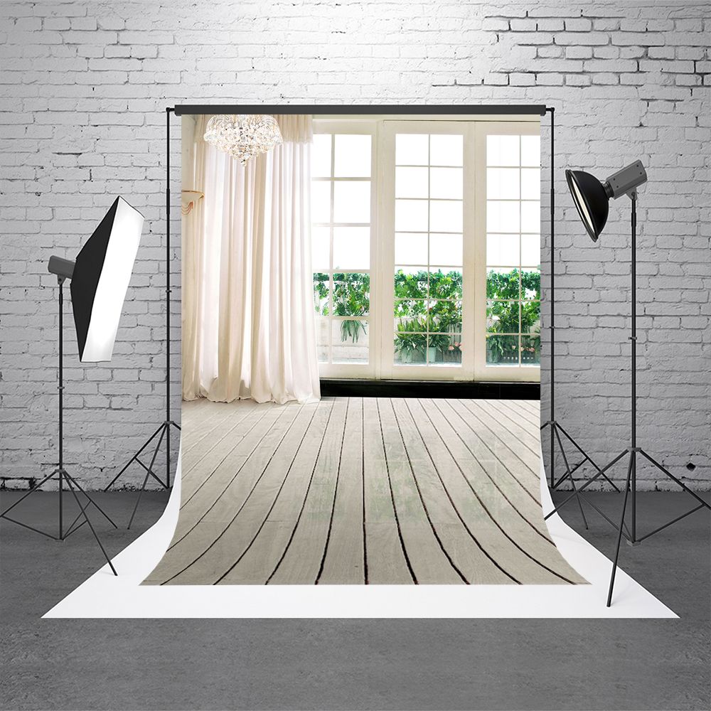 Kate 10x20ft Wedding Indoor Background Curtains Window Photography Backdrop White for Photo Studio Background