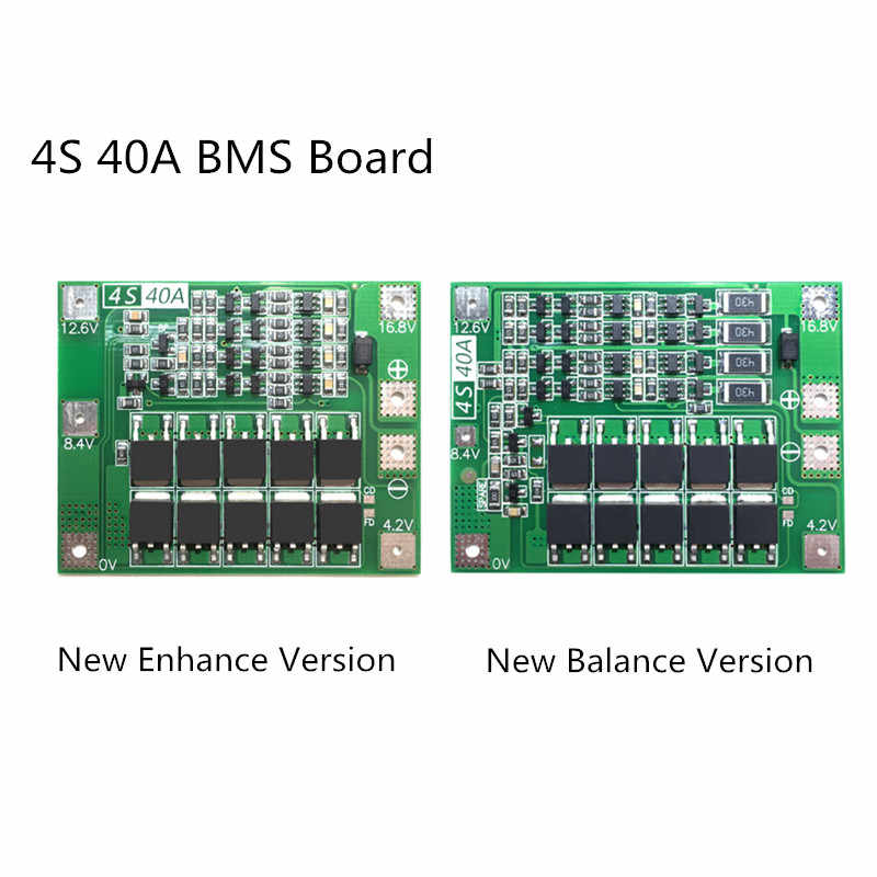 4S 40A Li-ion Lithium Battery Protection Board 18650 Charger PCB BMS For Drill Motor 14.8V 16.8V Enhance/Balance