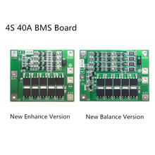 4S 40A Li ion Lithium Battery Protection Board 18650 Charger PCB BMS For Drill Motor 14.8V 16.8V Enhance/Balance
