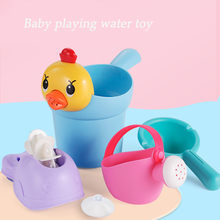 Fun Education Bathtub Children's Baby Shower Toy Gift Set Family Bath Toy Bathroom water child interactive shower water toys kit(China)