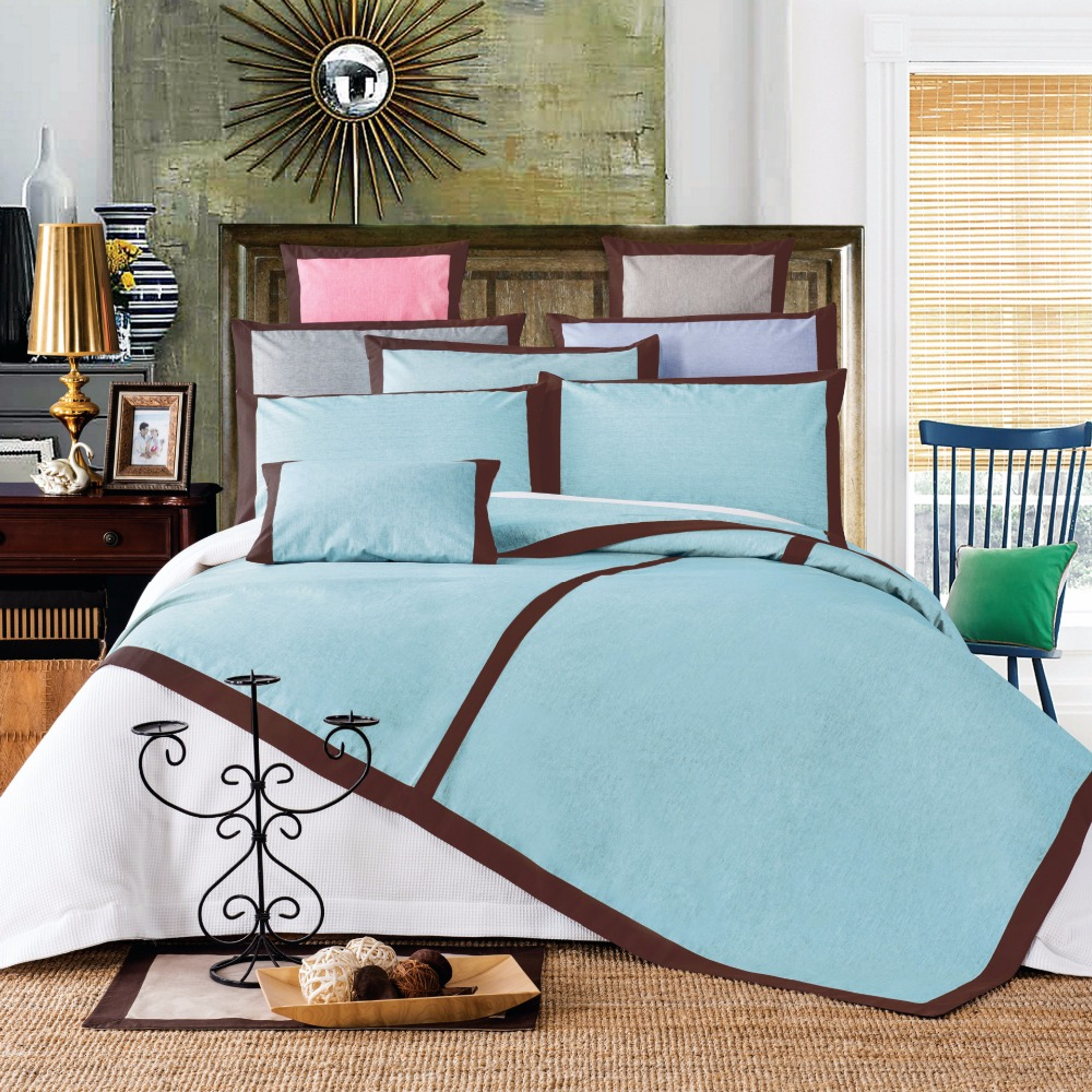 Collection 3pc Linen Bedspread Bed Cover Pillowcase Sets Queen Over size Include 1Bed sh ...