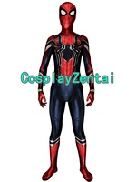 Newest Iron Spider Suit Spiderman Homecoming 3D Spandex Cosplay Costume For Kids Adult