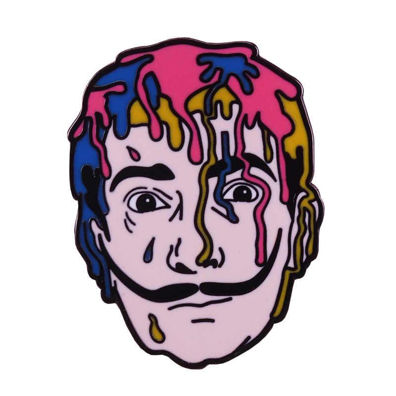 ซัลวาดอร์ Dali PIN Surreal จิตรกรเข็มกลัดพาสเทล Badge ศิลปินของขวัญเสื้อแจ็คเก็ตอุปกรณ์เสริม