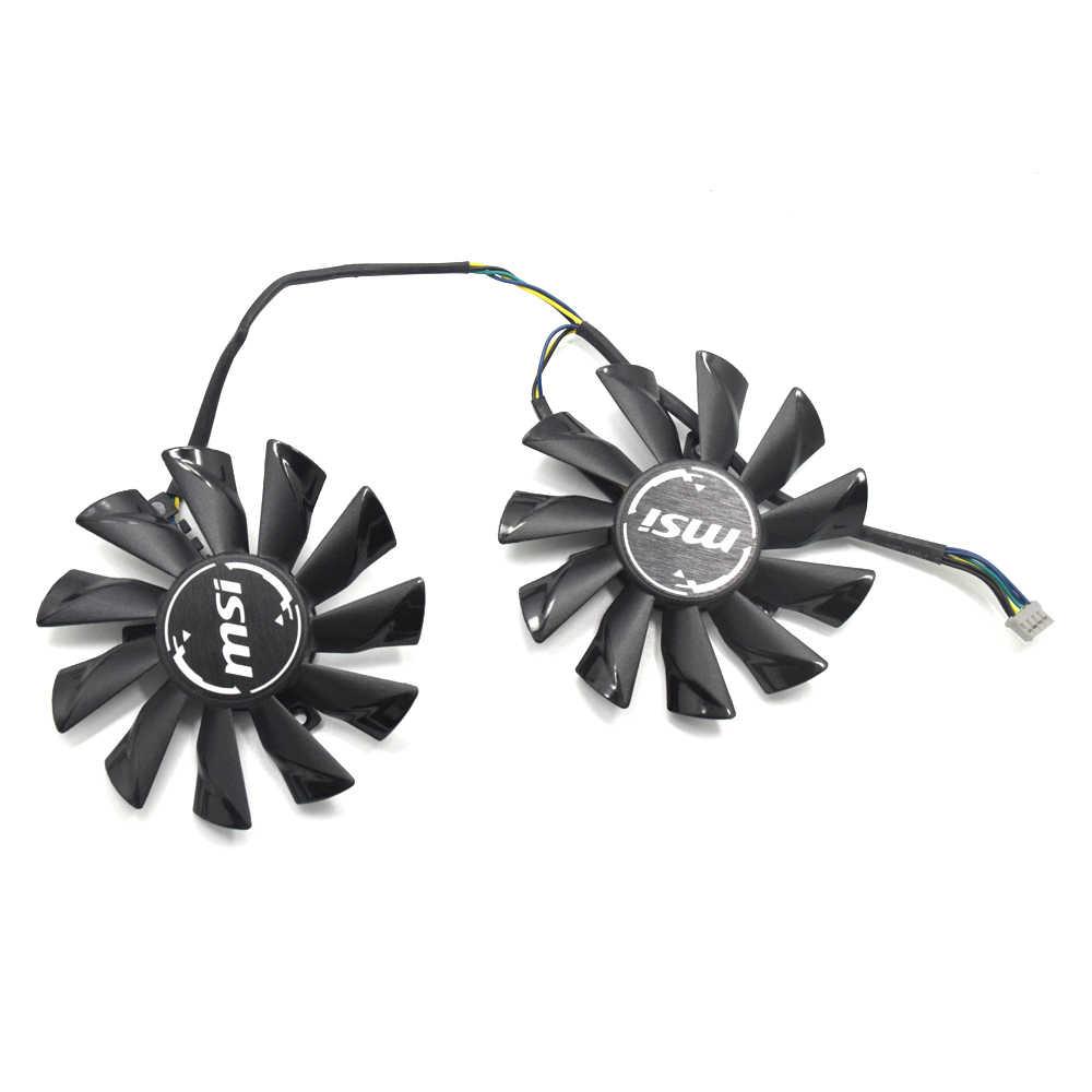 85mm 4PIN PLD09210S12HH GTX 1050 Ti Cooler fan Para MSI GeForce GTX 1050 Ti GAMING 4G GTX 950 placa de vídeo GTX 960 2GD5T OCV2 2GD5T