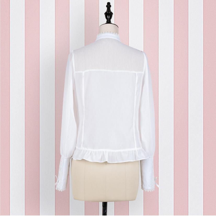 Nuevo White Protector Blusa Japonés Transpirable Superior Estilo Lolita Esposas Mori Verano L345 Solar Chicas Dulce Camiseta Las De 2018 Diseño HYZxqwx