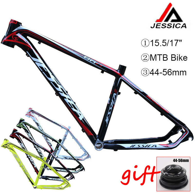 "15.5/17"" Mountain Bike Frames 26er  MTB Bicycle Frame Set Aluminum Frameset 44 56mm Tapered BB68 Cycling Frameset AccessoriesBicycle Frame   -"