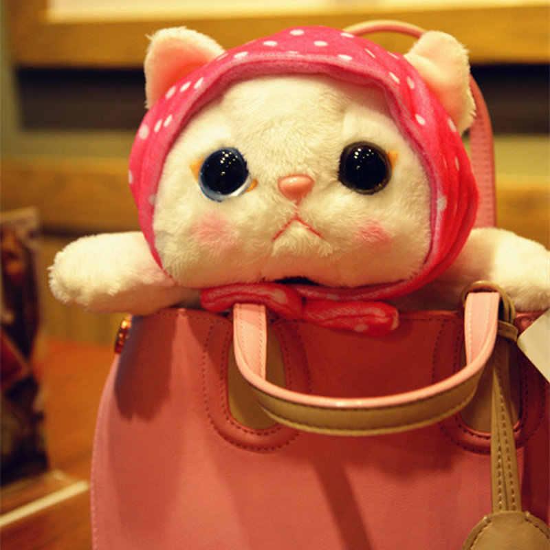 עיניים גדולות גארפילד חתול עם סופרמן suitting קוריאה ממולא חתול צעצועי תינוק יום הולדת הווה סופר חמוד קריקטורה choo חתול