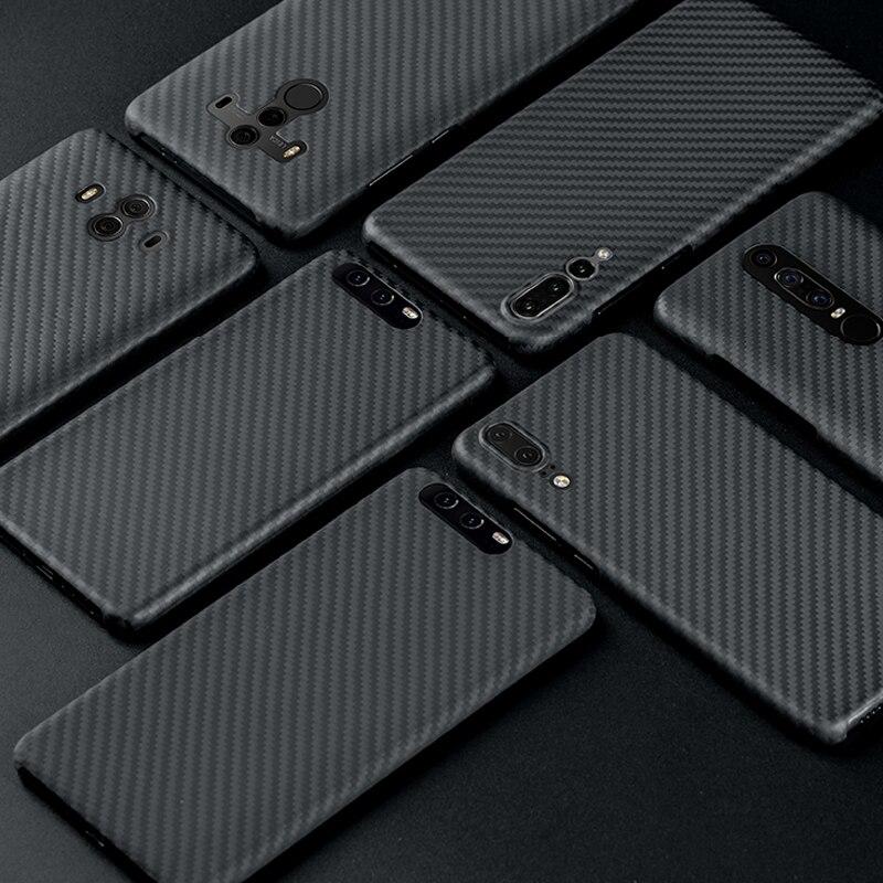 Étui pour Huawei P20 P20 Pro luxueux en Fiber de carbone étui mat pour Huawei P30 Mate 20 Pro Mate 10 Pro étui Ultra mince