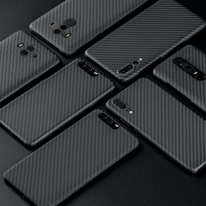 Image 1 - פחמן סיבי מקרה עבור Huawei P20 P20 פרו מקרה מט כיסוי עבור Huawei P30 P40 Mate 20 Mate פרו 30 30 פרו מקרה Ultra דק כיסוי
