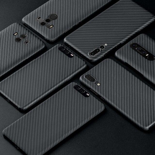 פחמן סיבי מקרה עבור Huawei P20 P20 פרו מקרה מט כיסוי עבור Huawei P30 P40 Mate 20 Mate פרו 30 30 פרו מקרה Ultra דק כיסוי