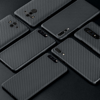 Luxurious Carbon Fiber Case for Huawei P20 P20 Pro Matte Aramid Fiber Mate 20 Pro Mate 10 Pro Mate 10RS Ultra Thin Phone Cover