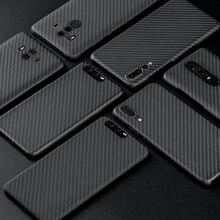 Ốp Lưng Sợi Carbon Cho Huawei P20 P20 Pro Ốp Lưng Mờ Dành Cho Huawei P30 P40 Giao Phối 20 Pro Giao Phối 30 30 Pro Ốp Lưng Siêu Mỏng Bao