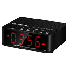 LEADSTAR LED Digital TF DC 5V Wireless Amplifier Clock A2DP HIFI Stereo Speaker Alarm Clock Bluetooth Speaker FM Radio MP3