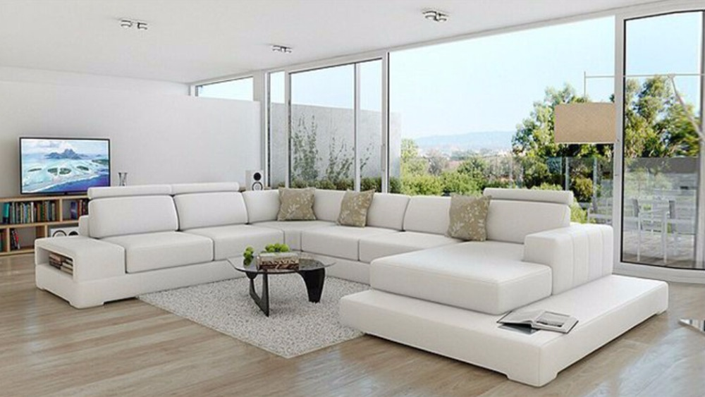Modern Leather Sofa For Sale