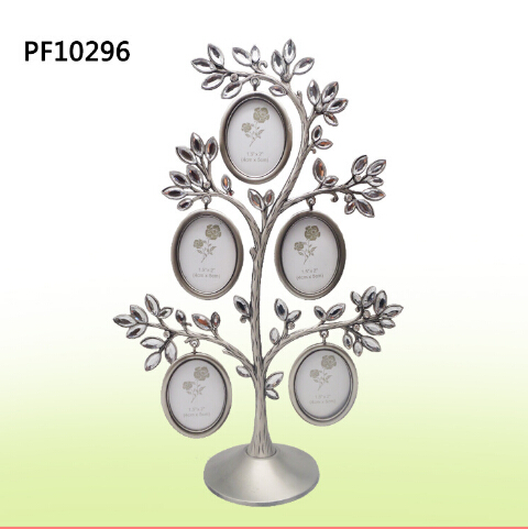 Vintage Photos Happiness Tree Picture Frame Full Stones Decoration Metal Art Photo Accepted Poster Frame Home Decor 50WW037