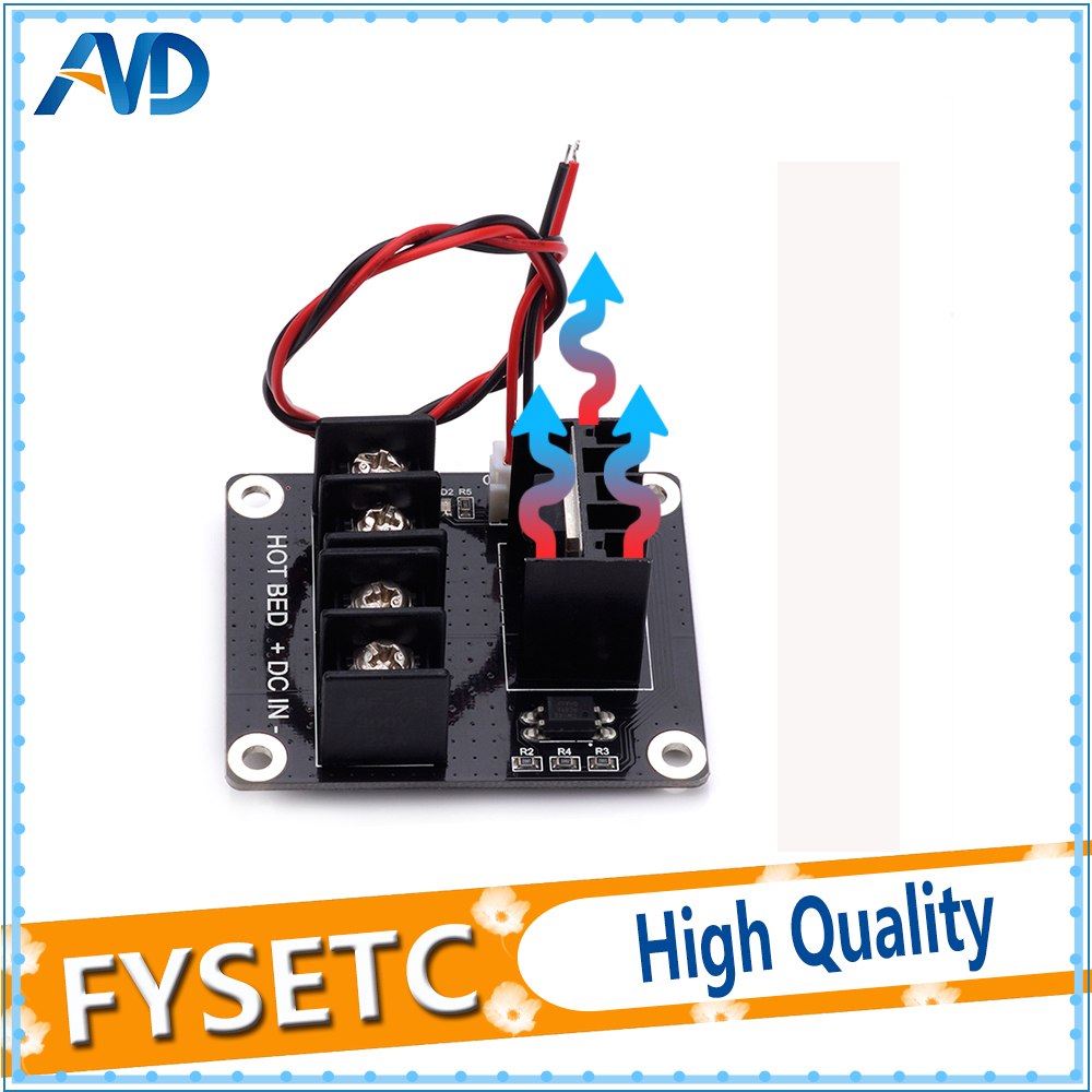 Integrated Circuits Tzt 3d Printer Parts General Add-on Heated Bed Power Expansion Module High Power Module Expansion Board For 3d Printer Attractive Fashion
