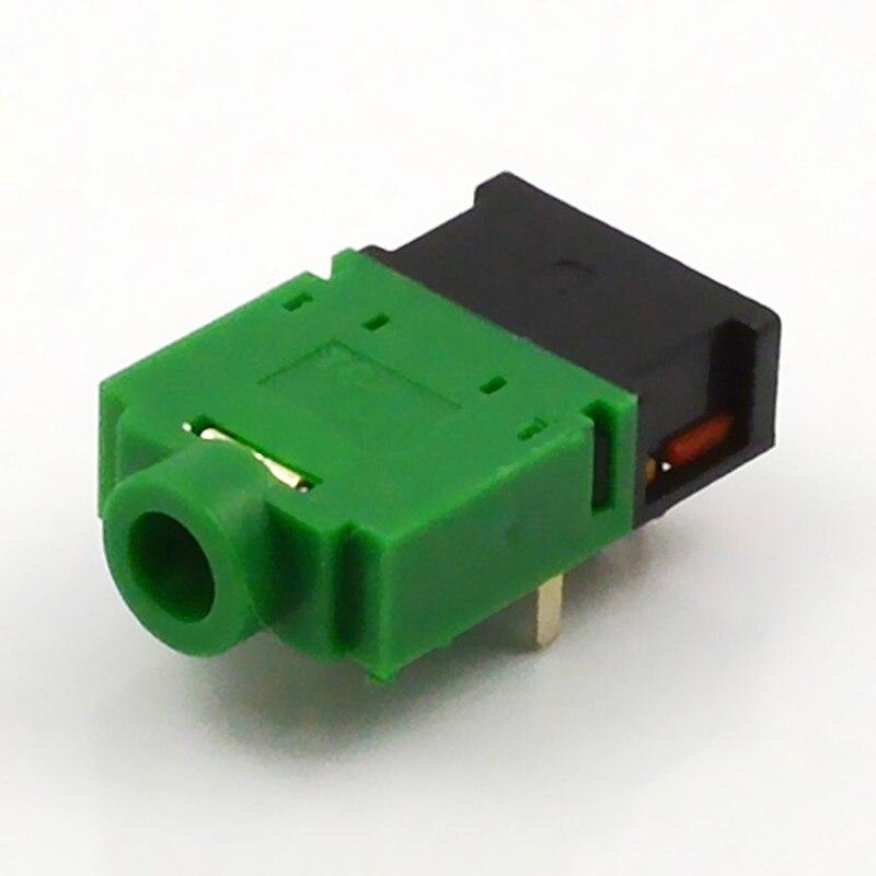 10pcs Jack 3.5mm Audio Connector 9 Feet 11 Feet 3.5mm Headphone Plug PJ-307E Green Black White