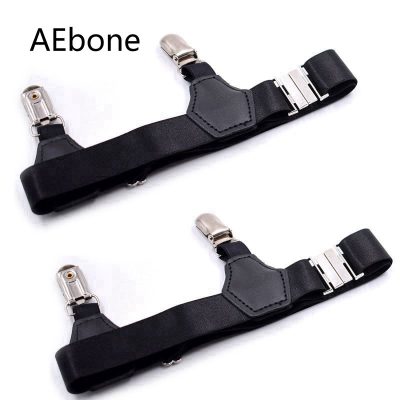 AEbone Black Suspensorio For Adult Double Clip Men Sock Suspenders Adjustable Elastic Sock Garter Sus14