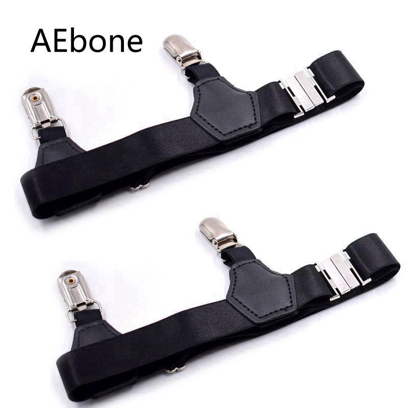 AEbone Black Suspensorio For Adult Double Clip Men Sock Suspenders Adjustable Elastic Sock Garter Sus14