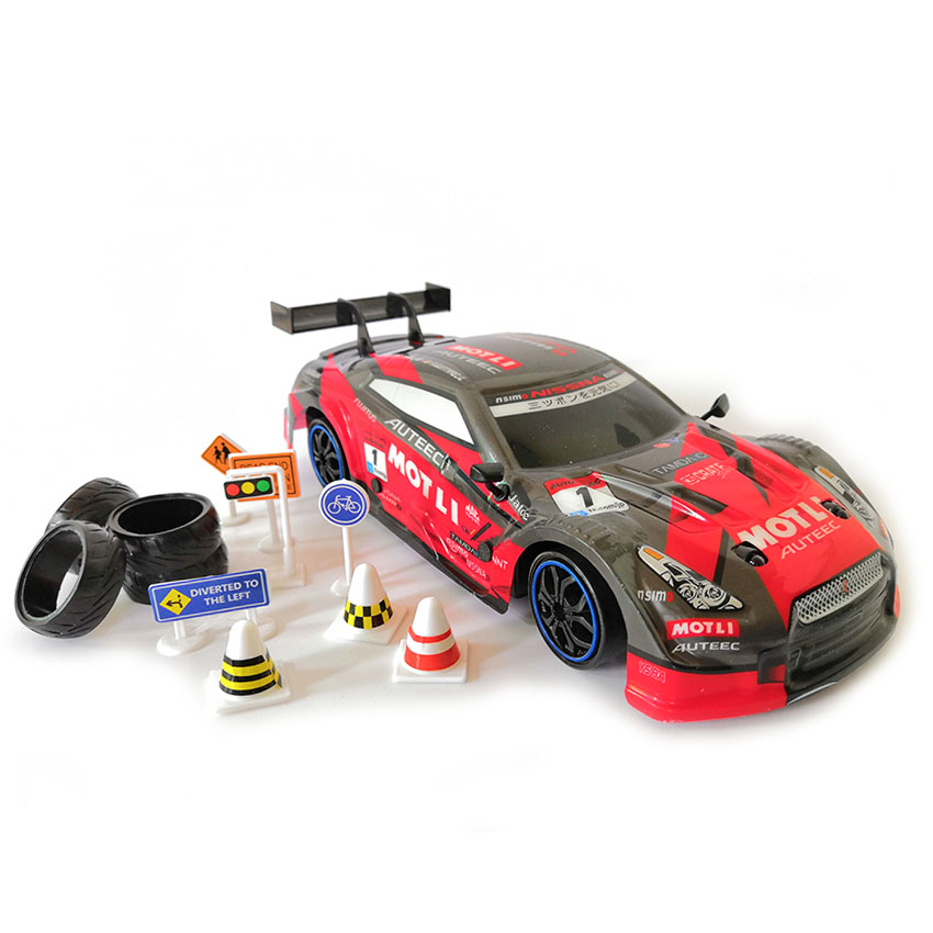 Image 2 - 4WD drive rapid drift car Remote Control GTR Car 2.4G Radio Control Off Road Vehicle RC car Drift High Speed Model car-in RC Cars from Toys & Hobbies