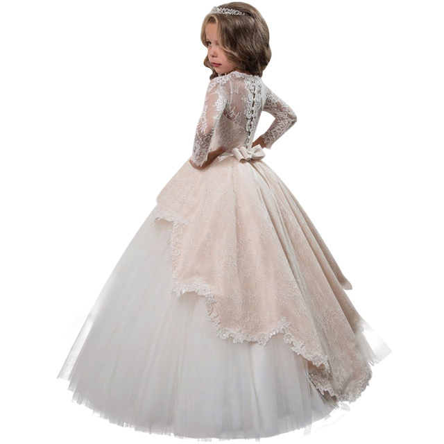 4-15 year Teens Party prom Dress Wedding Flower Girl Dress Kids Girls  elegant Princess Sleeveless Pageant Formal long Dress 6d2c8e080427