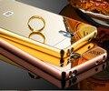 De aluminio de lujo caso de espejo de acrílico para xiaomi mi 4 protectora del teléfono móvil de la contraportada para xiaomi mi4 m4