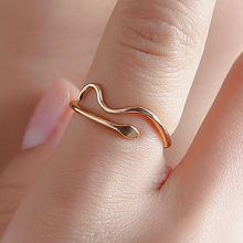 2019 New Silver Plated Snake Rings Charms Gold Wedding for Women Girls Fashionable Jewelry Female Ocean Wave