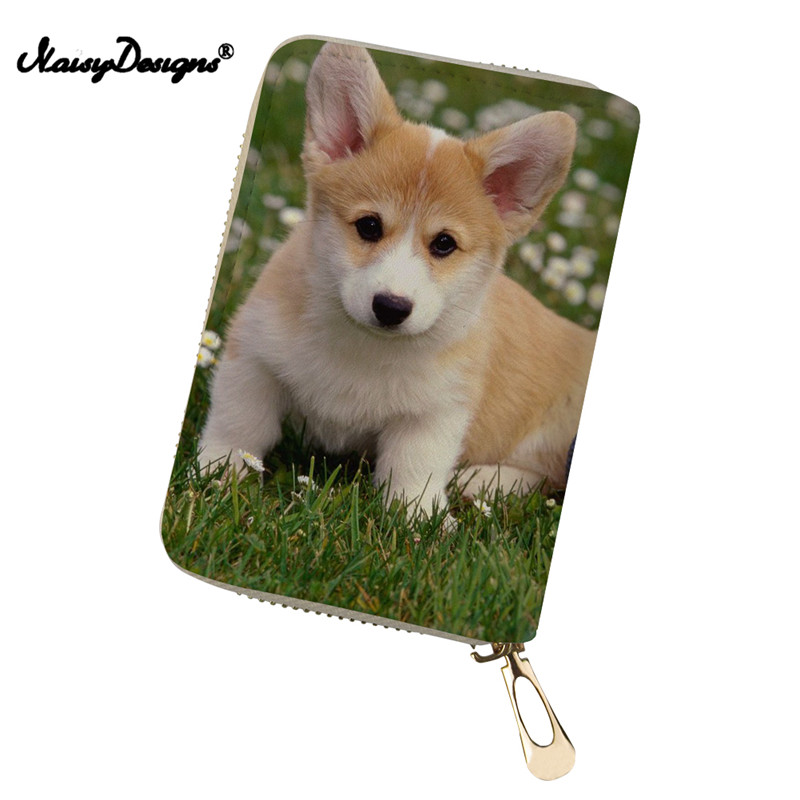 Coin Purses & Holders 3d Cute Pets Corgi Dog New Solid Color Passport Card Holder Travel Multi Function Portable Card Cover Bag Package Id Tick Folder Luggage & Bags