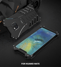 Bat Series Shockproof Metal Case For Huawei Mate 20 Pro X 5G Hard Cover Aluminum Alloy Shell Heat Dissipation Sports+Straps