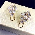 Personality Clear Cubic Zircon Women Stud Earrings  Female Geometric Jewelry Wholesale