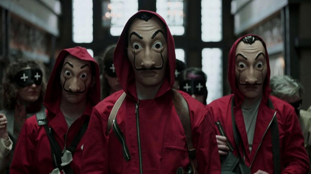 Money Heist The House of Paper La Casa De Papel Mask for Men Women Salvador Dali Mask Halloween Carnival Christmas dali Mask