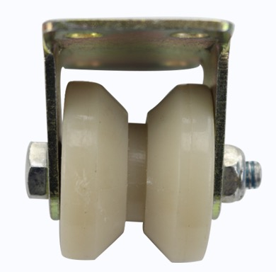 4Pieces Lot Wheel D 50mm 2inch V Groove Nylon Mute Sliding Door Pulley Door Bearing Steel