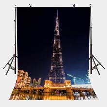 150x210cm City Night Scene Backdrop Dubai Photography Burj Khalifa Tower Background Studio Props