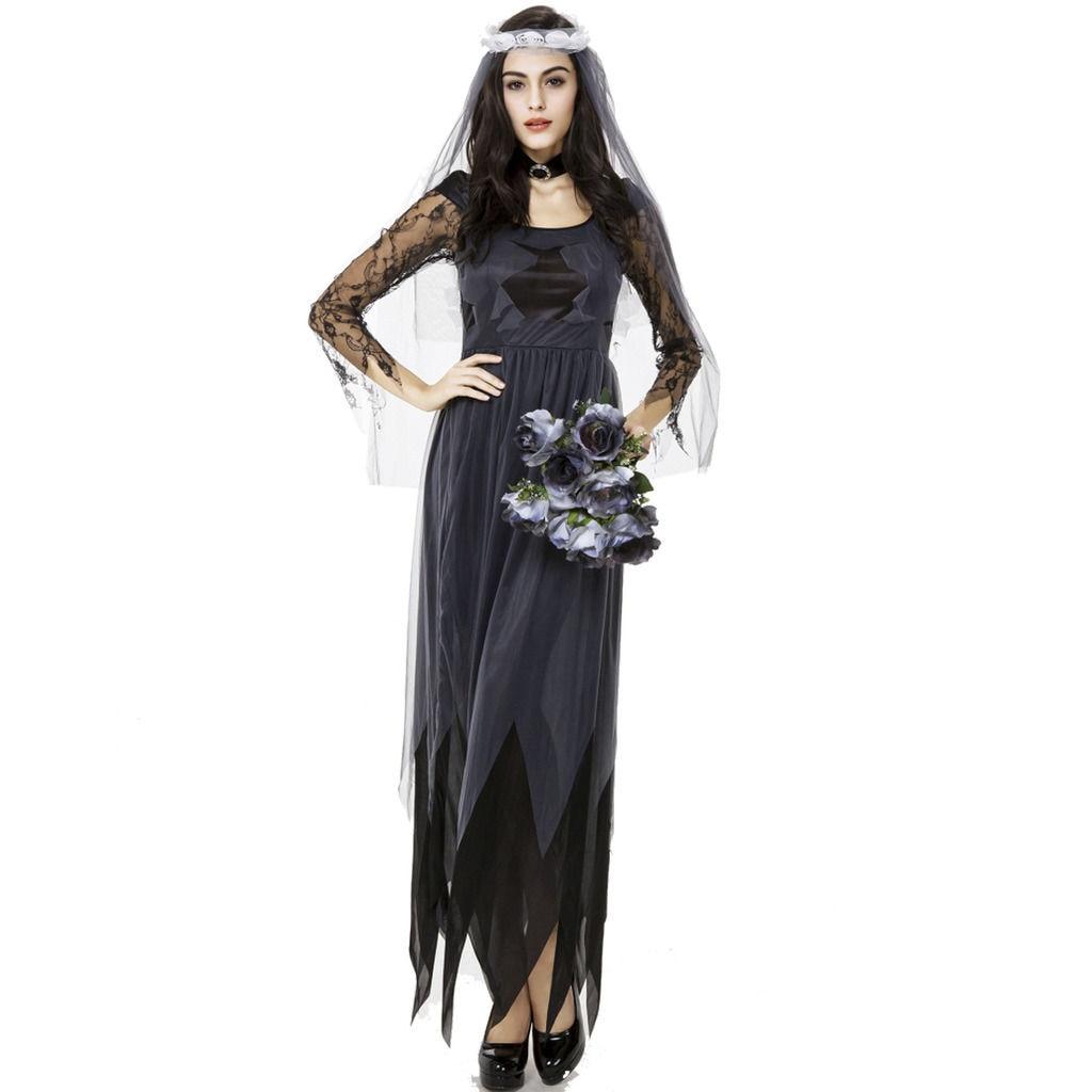 women zombie bride halloween costume vampire cosplay party long fancy dress goth on aliexpresscom alibaba group