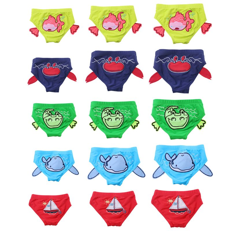 Baby Trunks Boys Briefs Swimming Trunks Cartoon Kids Boys Swimwear Baby Swim Trunks