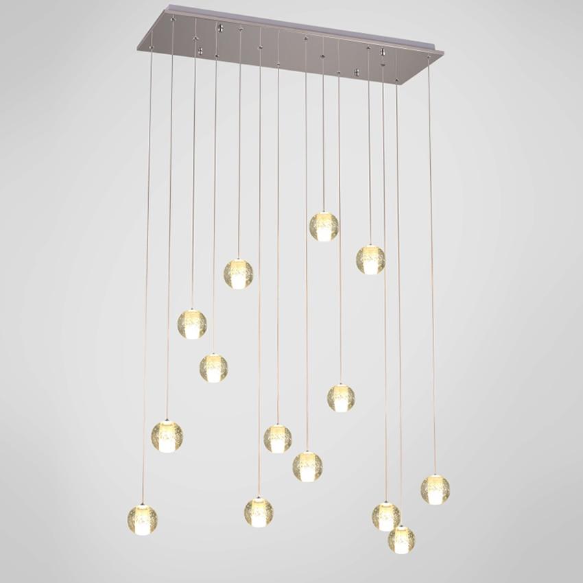 moderní led křišťálový přívěsek lampa více světla - Vnitřní osvětlení