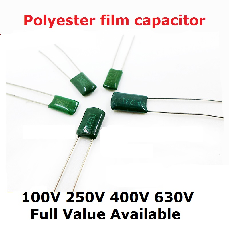 50PC 100V 630V 2J152J 2A563J 2A683J 2A823J 2A104J 2J222J 0.00/0.0/1.5/2.2/56/68/100/82/NF/UF Polyester Film Capacitor 152 104