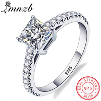 LMNZB Victoria Wieck Princess Cut Brand Jewelry 925 Sterling Silver Ring Clear 5A CZ Zircon Wedding