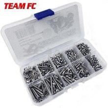 Caja de tornillos de acero inoxidable para coche a control remoto, Kit de herramientas de reparación para TRX4, accesorios S146