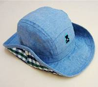 Baby Boy Cotton Cow Boy Hat Jean Blue Children S Sun Helmet Boy Summer Caps String