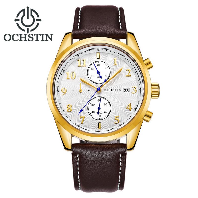 Montre Limited Homme Brand Ochstin 2017 New Men's Watches Quartz Watch Men Outdoor Sports Leather Strap Wristwatch Male Gift new listing men watch luxury brand watches quartz clock fashion leather belts watch cheap sports wristwatch relogio male gift