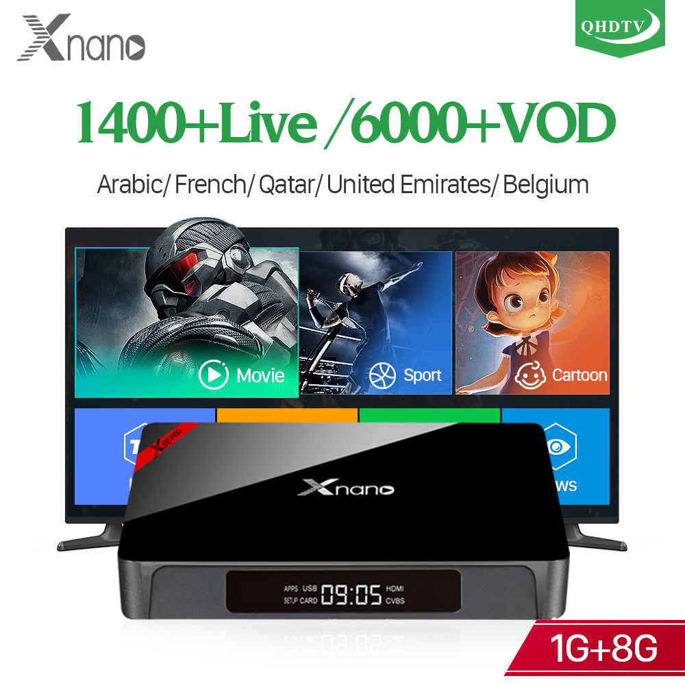 H.265 Decoder France Arabic QHDTV Android IPTV WIFI XNANO S905X Support BT Dutch Belgium Tunisia Algeria IPTV Smart Android Box belgium culture smart