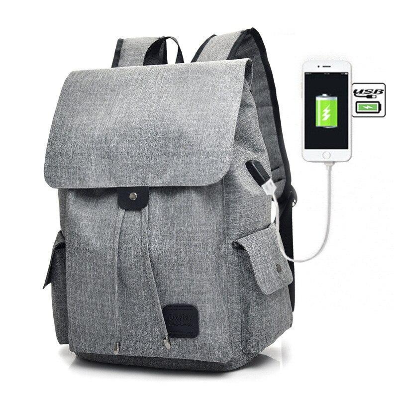 Women Men Backpack External USB Charge School Backpack For Teenager School Womens Casual Travel Backpack Mochila Masculina