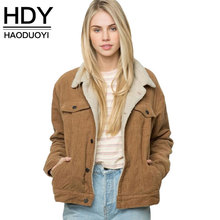 Haoduoyi Winter Solid Color Women Coat Long Sleeve Collar Jacket Coat For Female Women Single Breasted Basic Tops