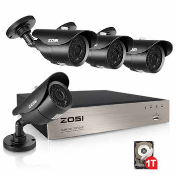 ZOSI 8CH 1080P HD-TVI Security Camera CCTV System P2P IR Night Vision 4PCS 2.0MP Outdoor HD Camera Surveillance Kit APP View - DISCOUNT ITEM  35% OFF All Category