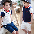 2016 Summer New Casual Children Clothing Toddler Boys Back To School Outfit 100%Cotton Kids Tracksuit Baby Boy Clothing Set 2-7Y