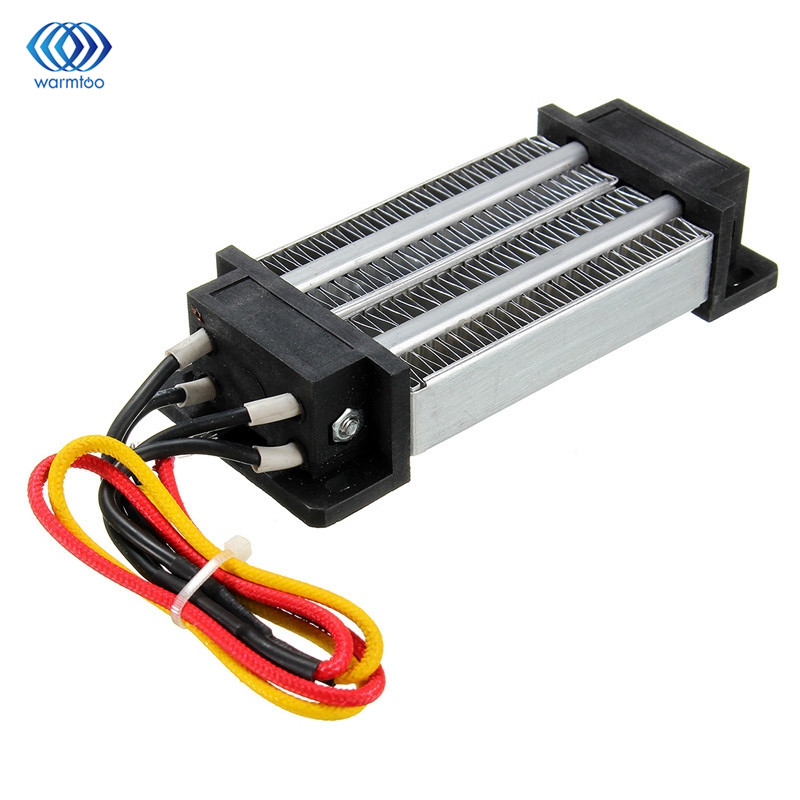 Thermostatic PTC Heating Element Electric Ceramic Heater 12V 200W Insulated Air Heater 120*51*26mm 100w 220v ac dc insulated ceramic thermostatic ptc heating element electric air heater 11 5 x 3 5cm tool parts