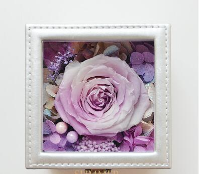 Ewige Blume Geschenkbox Glasabdeckung Blumenkasten Rose Box Diy