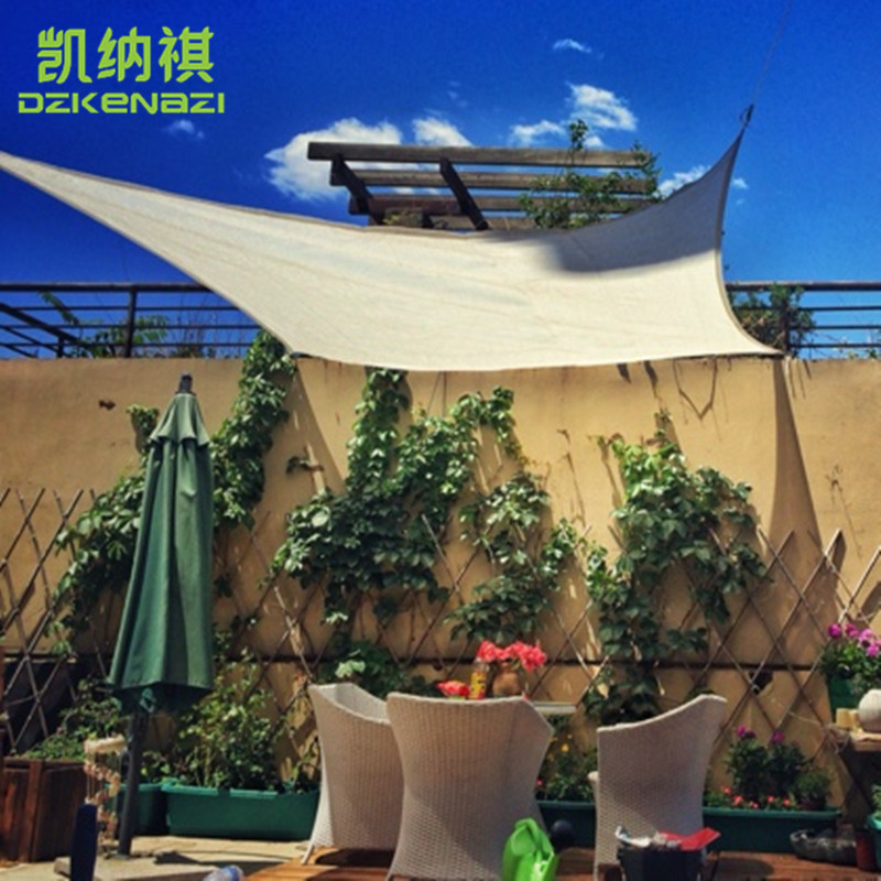 5.5 x 5.5 M/pcs Customized HDPE Squre Shade Sail Combination 95% UV Shade Net with free  ...