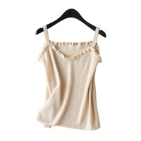 New Camisole Tops Women Cashmere knitted Camis Soft Suspender Waistcoat Lady Overalls Fashionable Personality Female Undercoat